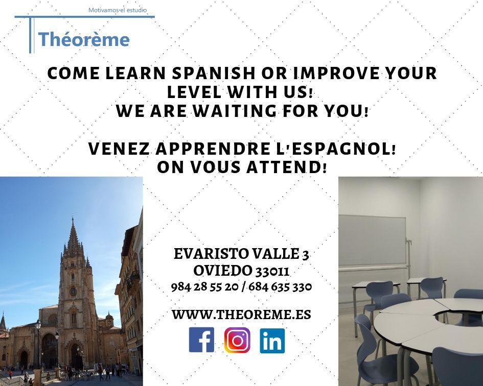 Español para extranjeros/as en Oviedo.