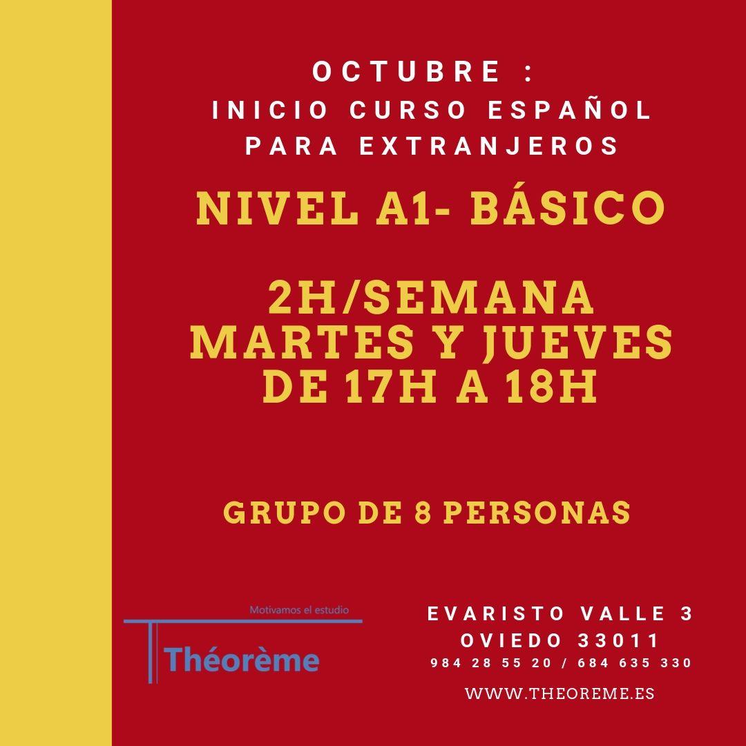 Español para extranjeros/as : curso para principiantes en octubre