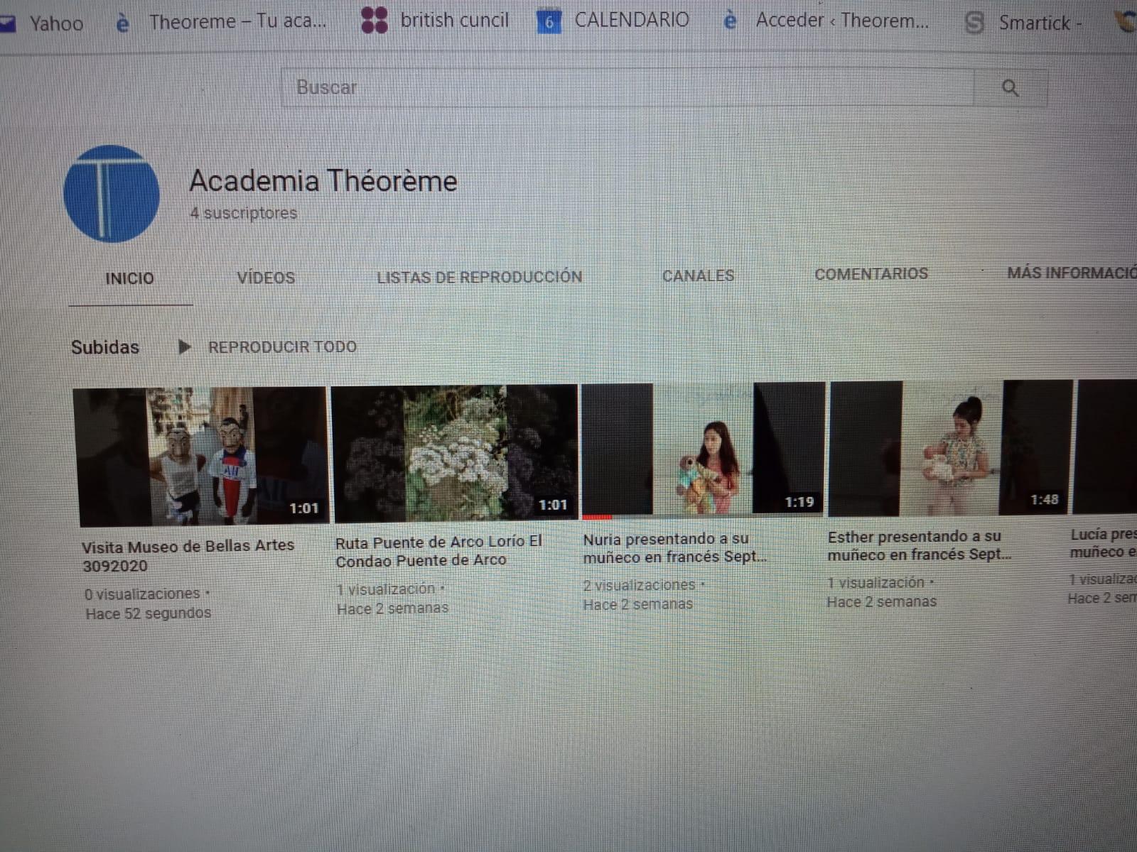 Canal de You Tube de Théorème